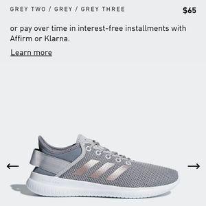 Adidas Grey and Rose Gold Cloudfoam QT Flex Shoes